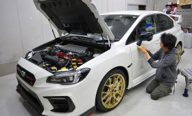 スバル WRX STI ガラスコーティング施工日誌