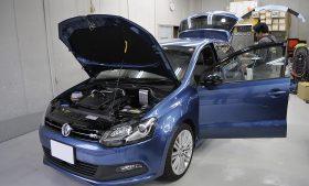 VW ポロ ブルーGT ガラスコーティング施工日誌