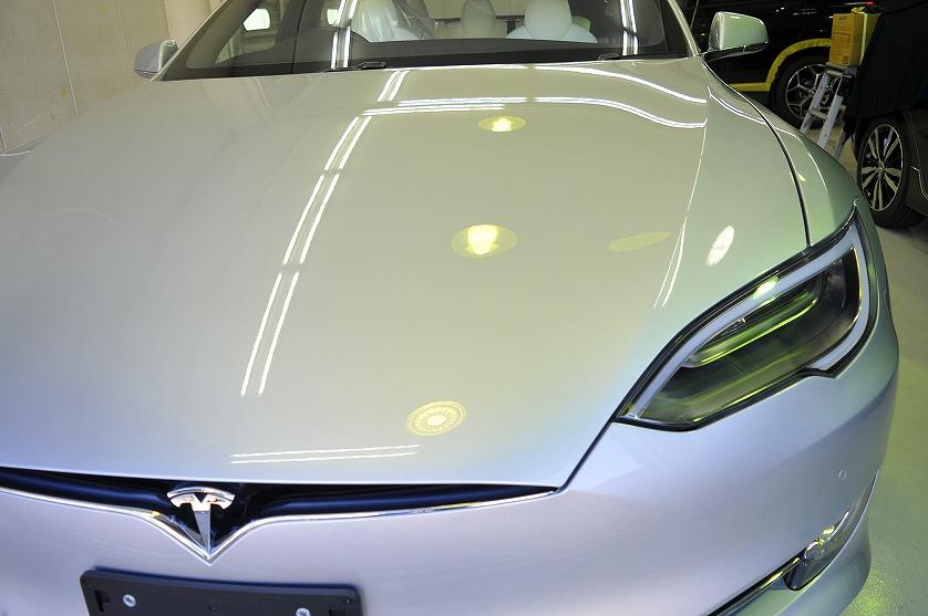 テスラ モデルS 75D ガラスコーティング施工例