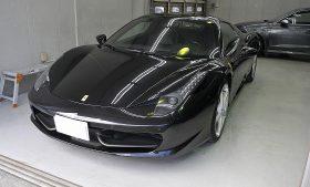 フェラーリ456 ガラスコーティング 磨き施工例 世田谷区から W様