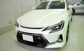 トヨタ マークX ガラスコーティング施工例 東京都葛飾区 K様