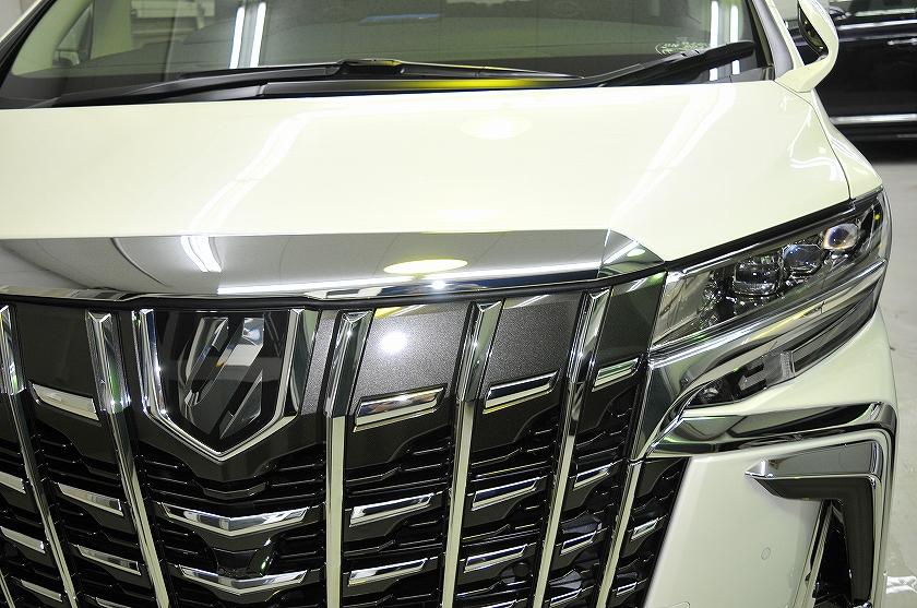 トヨタ アルファード ガラスコーティング施工例 江戸川区 Z様