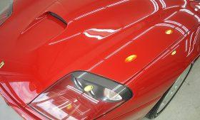 フェラーリ550マラネロ ガラスコーティング、磨き施工例  江戸川区から N様