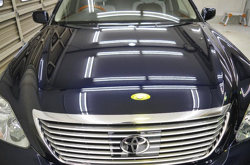 トヨタ セルシオ ガラスコーティング施工例 取手市 M様