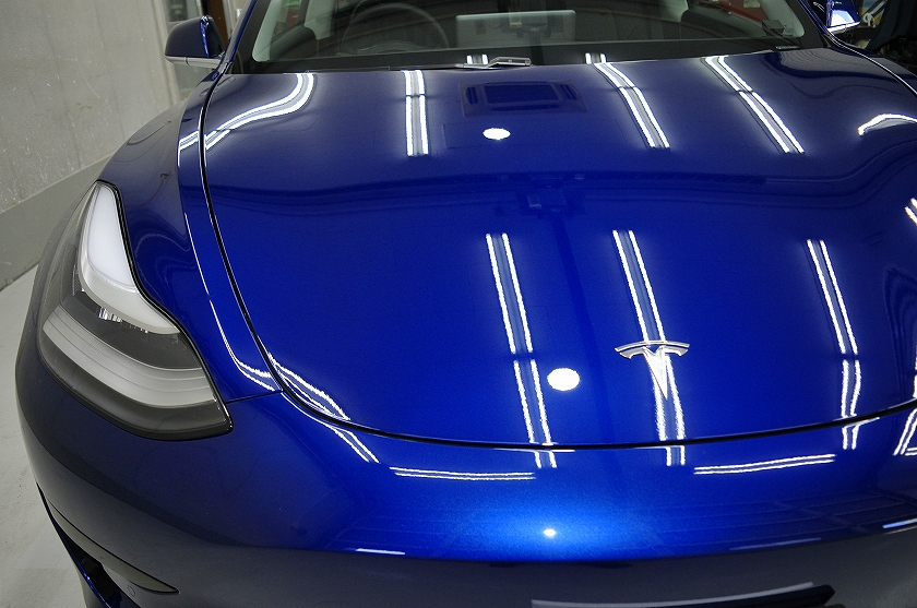 テスラ モデル3 ガラスコーティング施工例 練馬区 M様
