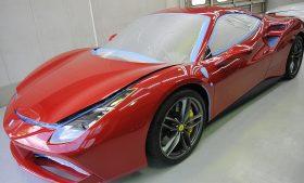 フェラーリ 488 GTB ガラスコーティング施工日誌