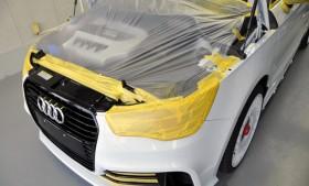 「Audi A1 quattro」トラフィックガラスコーテイング施工