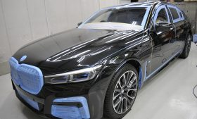 BMW 745e ガラスコーティング施工日誌